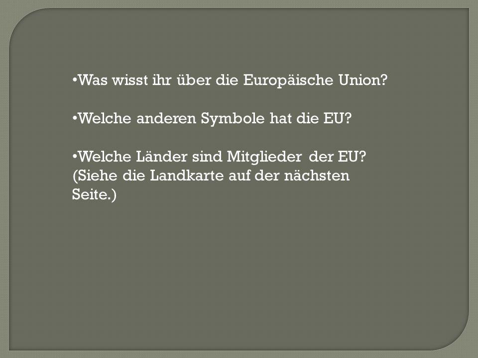 Was wisst ihr über die Europäische Union