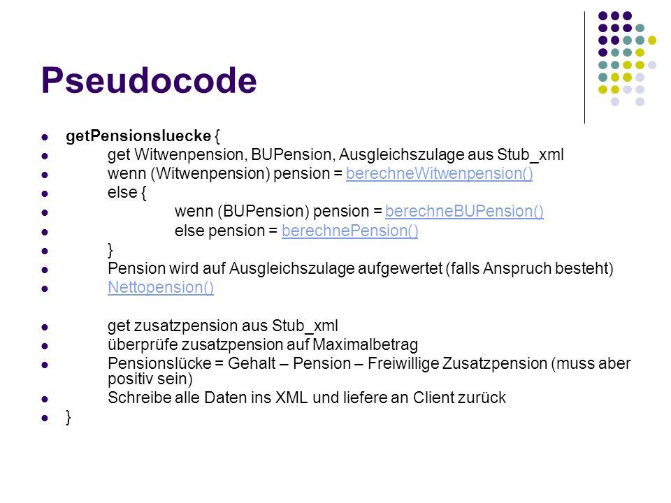 Pseudocode getPensionsluecke {