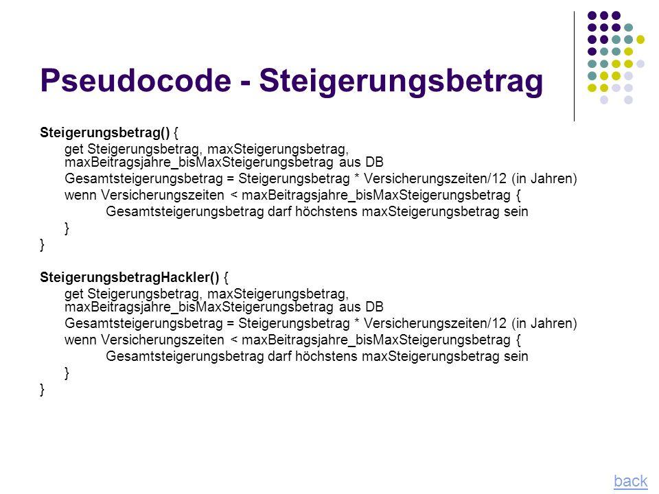 Pseudocode - Steigerungsbetrag