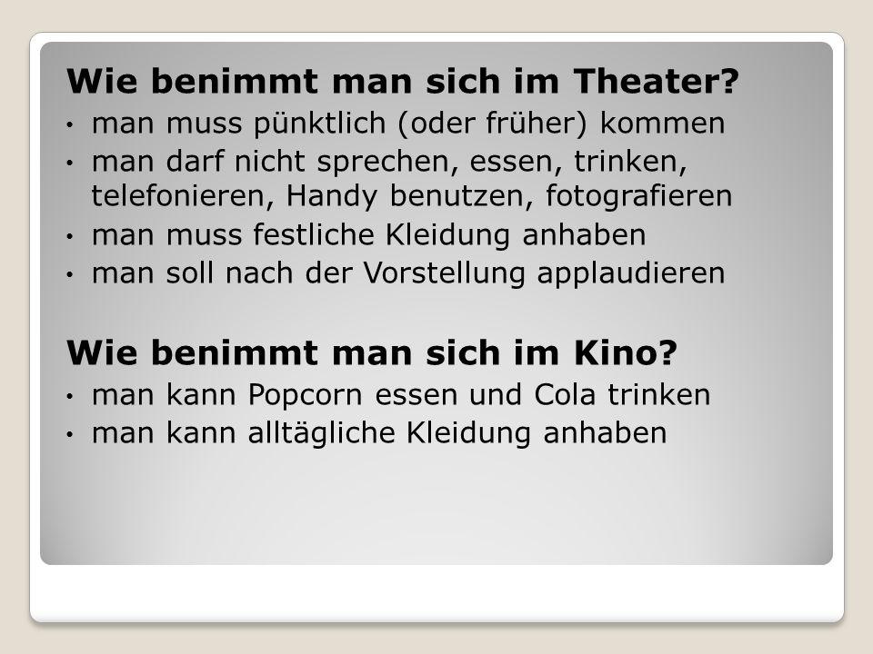 Wie benimmt man sich im Theater