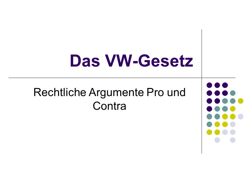 Rechtliche Argumente Pro und Contra