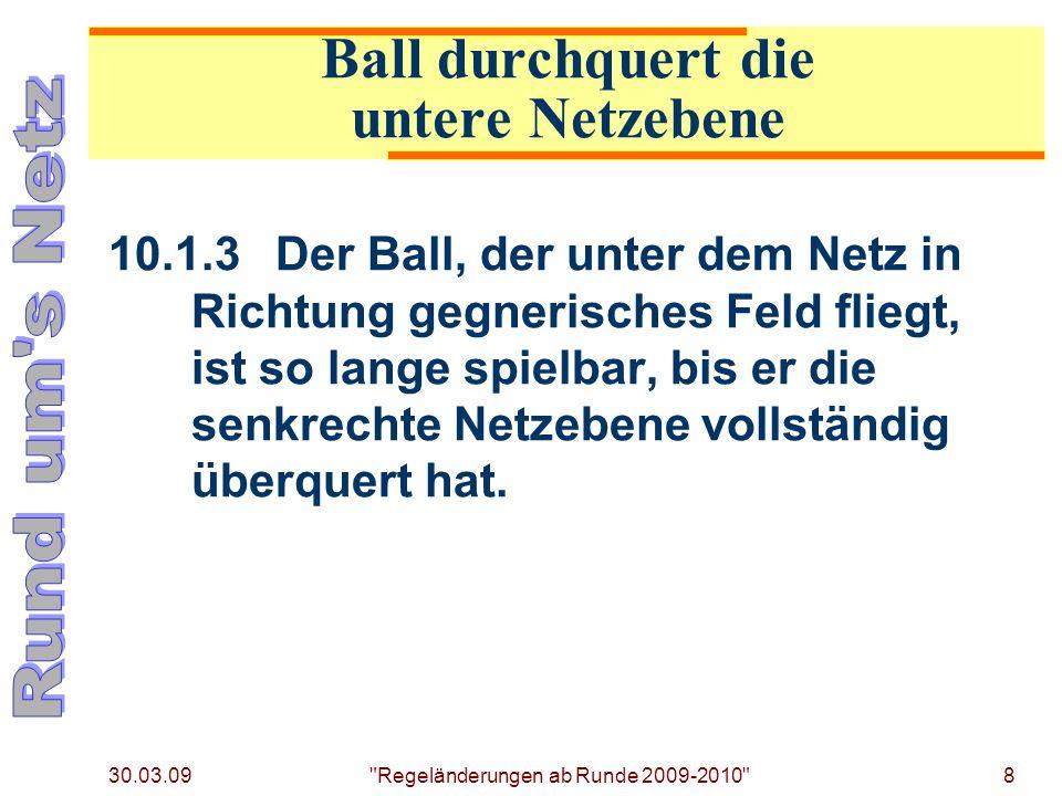 Ball durchquert die untere Netzebene