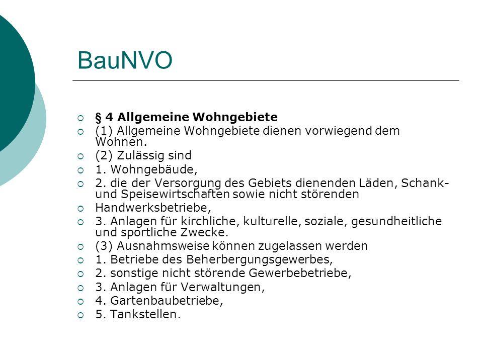 BauNVO § 4 Allgemeine Wohngebiete