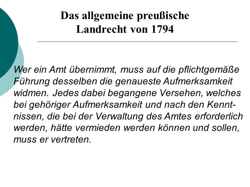 Das allgemeine preußische Landrecht von 1794