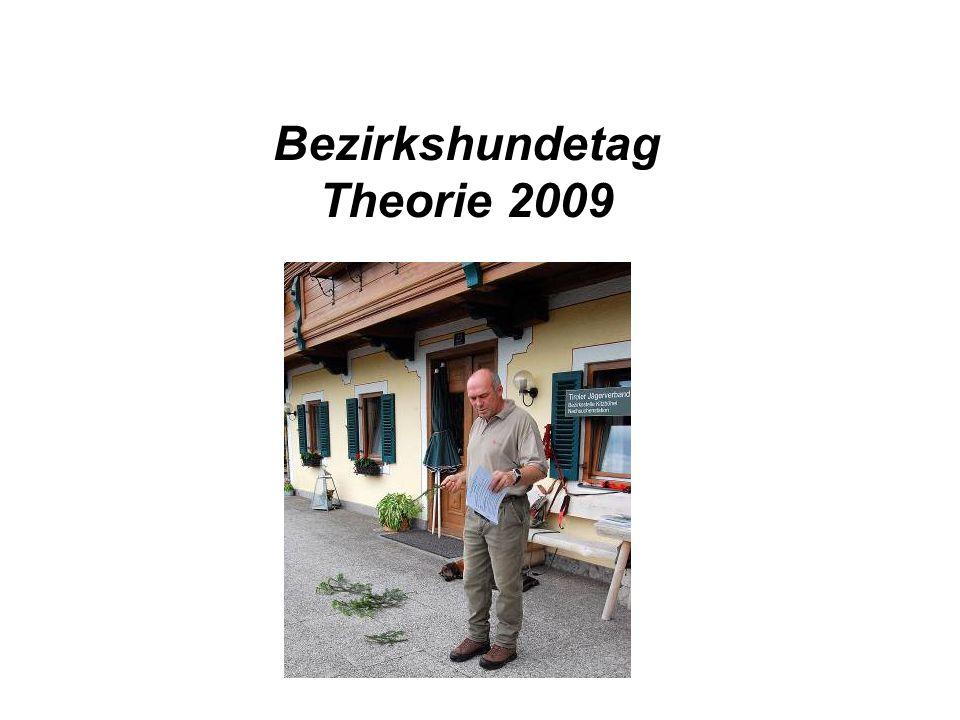 Bezirkshundetag Theorie 2009