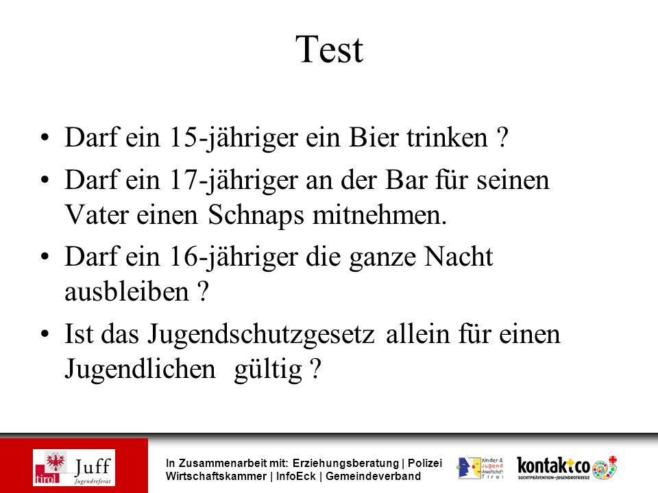 Test Darf ein 15-jähriger ein Bier trinken