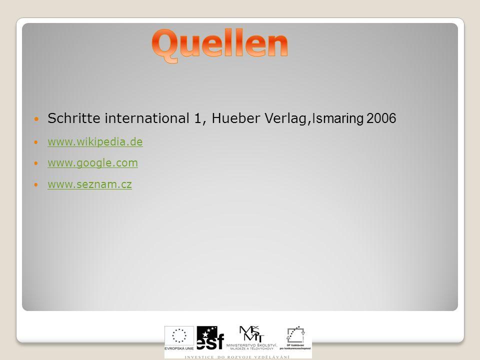 Quellen Schritte international 1, Hueber Verlag,Ismaring 2006