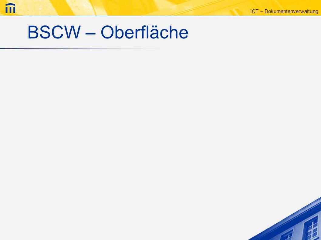 BSCW – Oberfläche