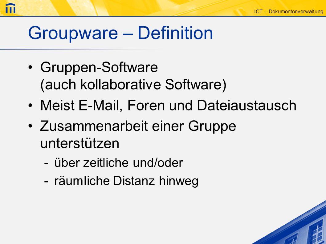 Groupware – Definition