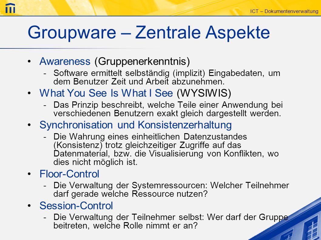 Groupware – Zentrale Aspekte