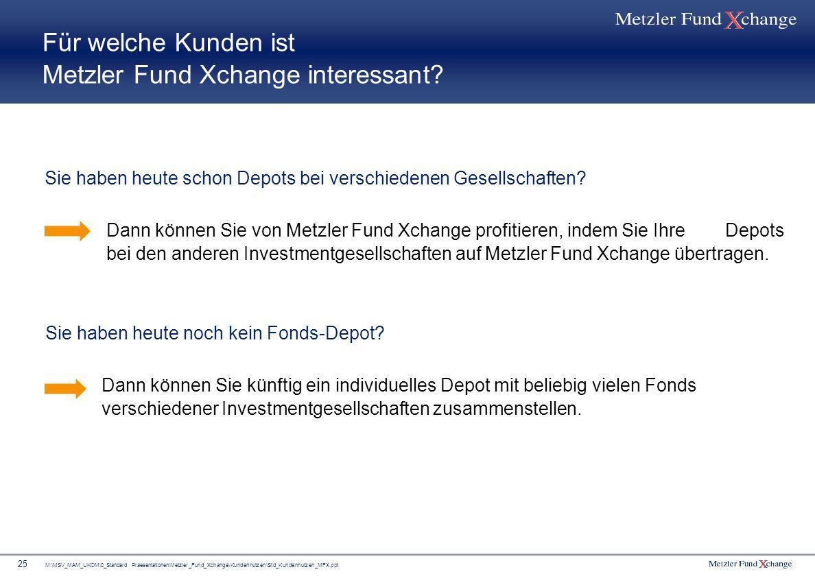 Für welche Kunden ist Metzler Fund Xchange interessant