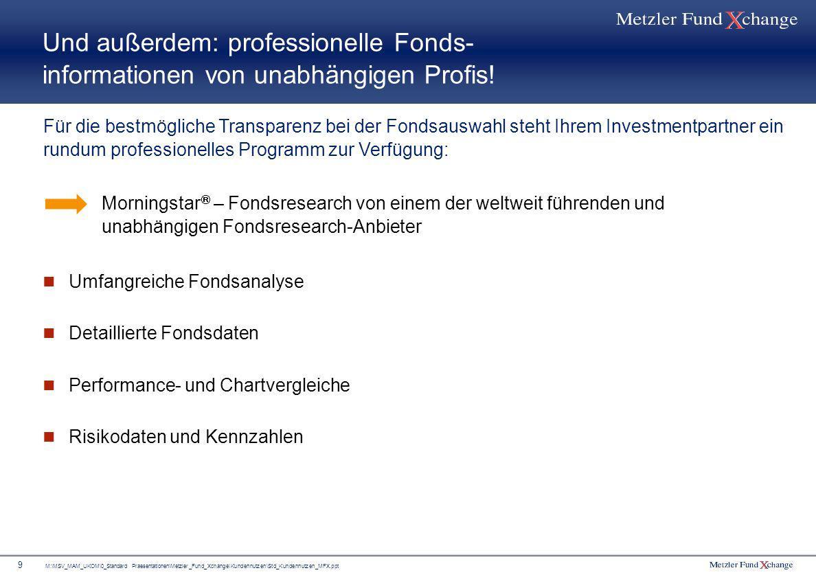 Und außerdem: professionelle Fonds- informationen von unabhängigen Profis!