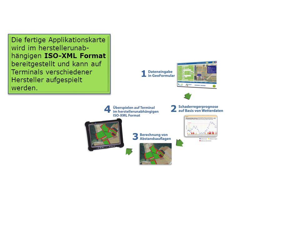 Die fertige Applikationskarte wird im herstellerunab-hängigen ISO-XML Format bereitgestellt und kann auf Terminals verschiedener Hersteller aufgespielt werden.