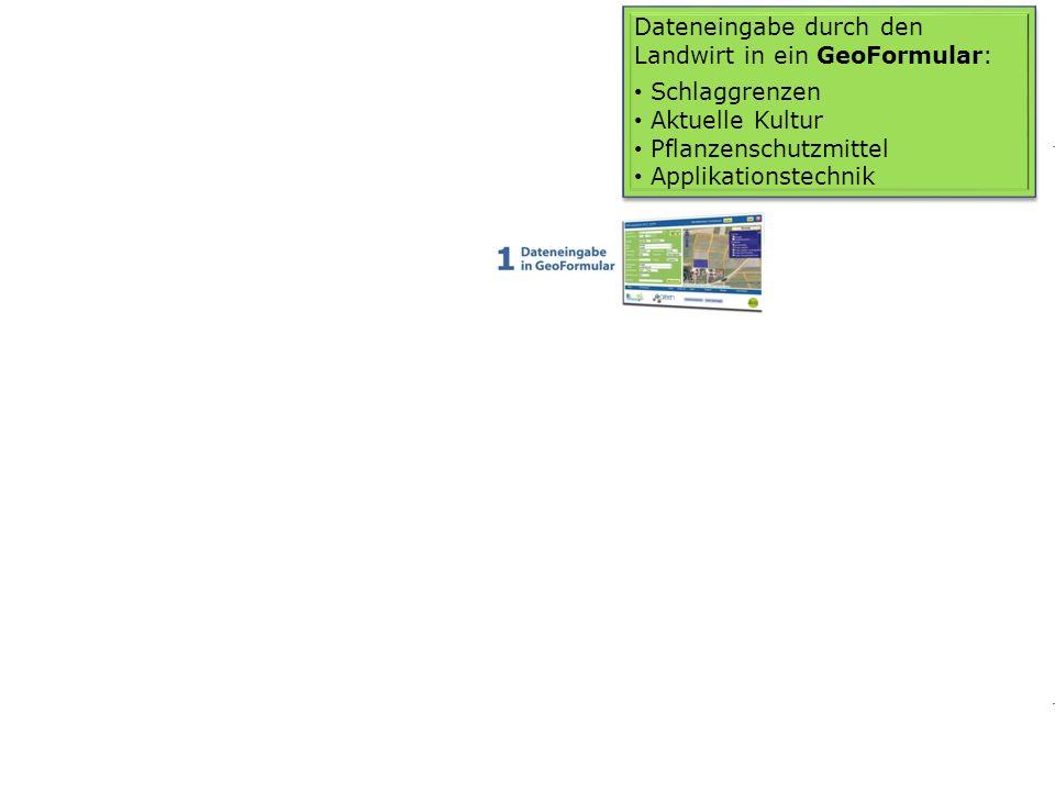 Dateneingabe durch den Landwirt in ein GeoFormular: Schlaggrenzen