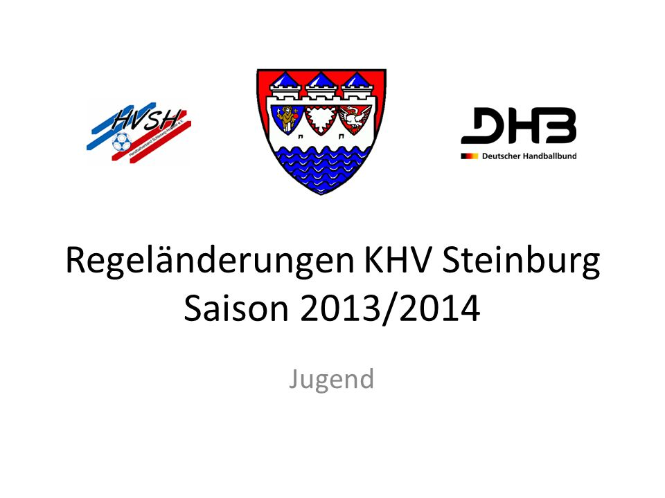 Regeländerungen KHV Steinburg Saison 2013/2014