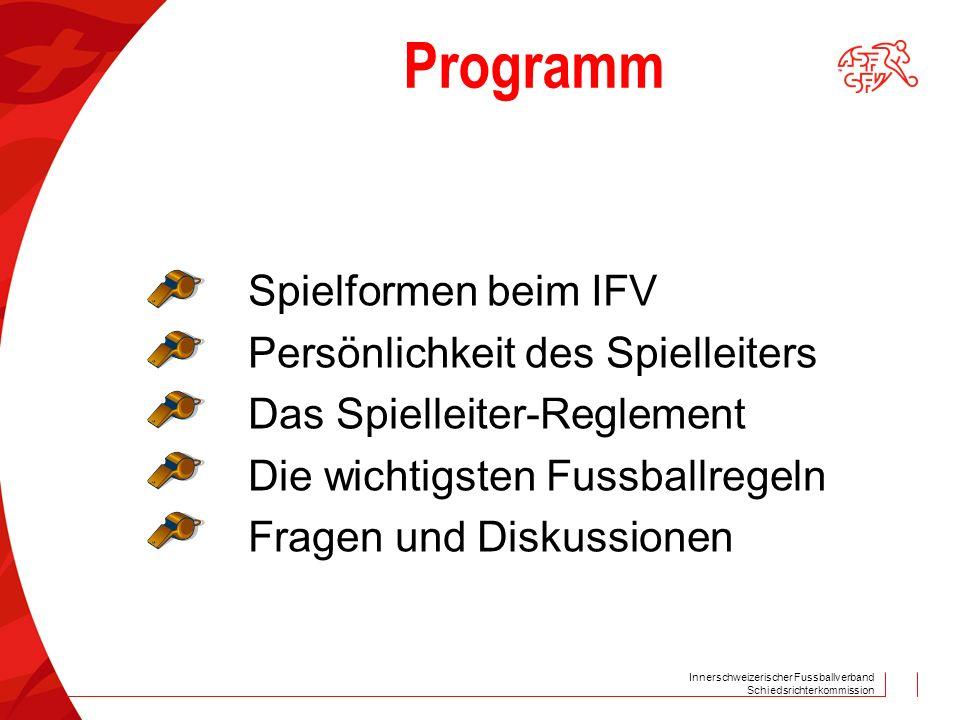 Programm Spielformen beim IFV Persönlichkeit des Spielleiters