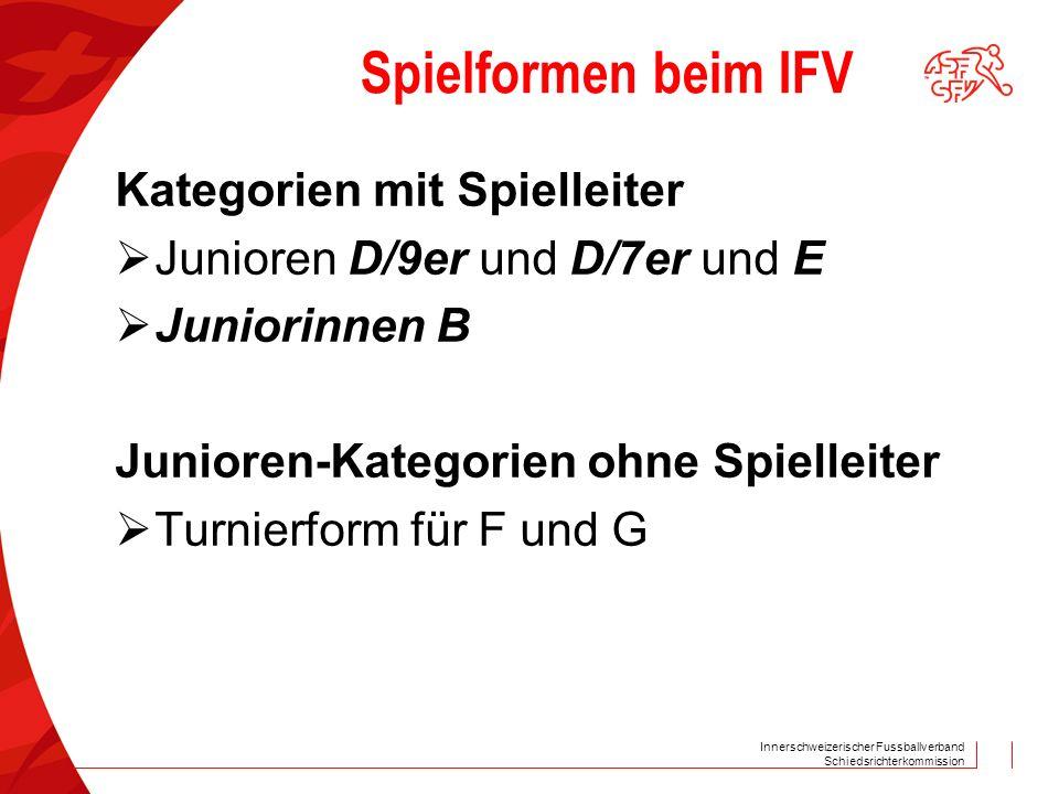 Spielformen beim IFV Kategorien mit Spielleiter