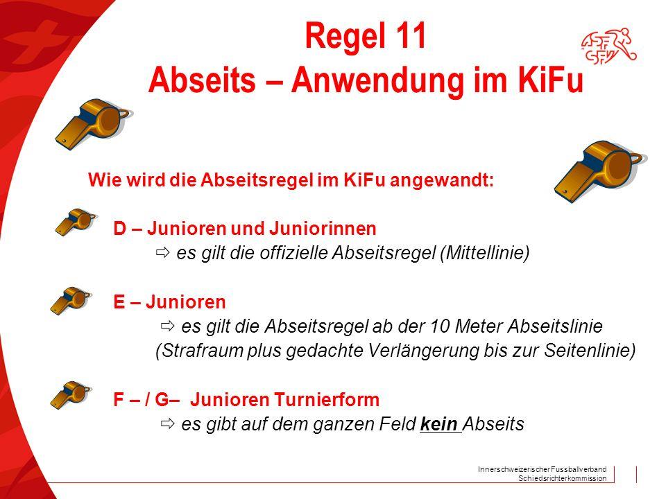 Regel 11 Abseits – Anwendung im KiFu