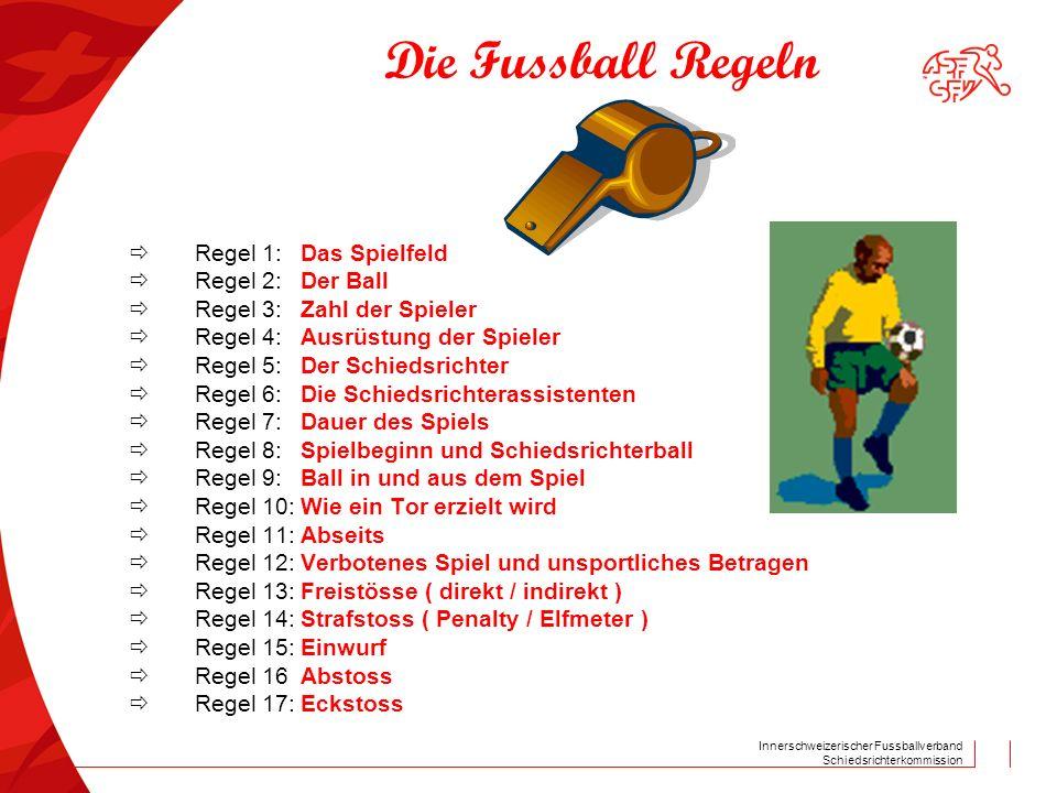 Die Fussball Regeln  Regel 2: Der Ball  Regel 3: Zahl der Spieler