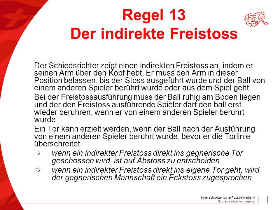 Regel 13 Der indirekte Freistoss