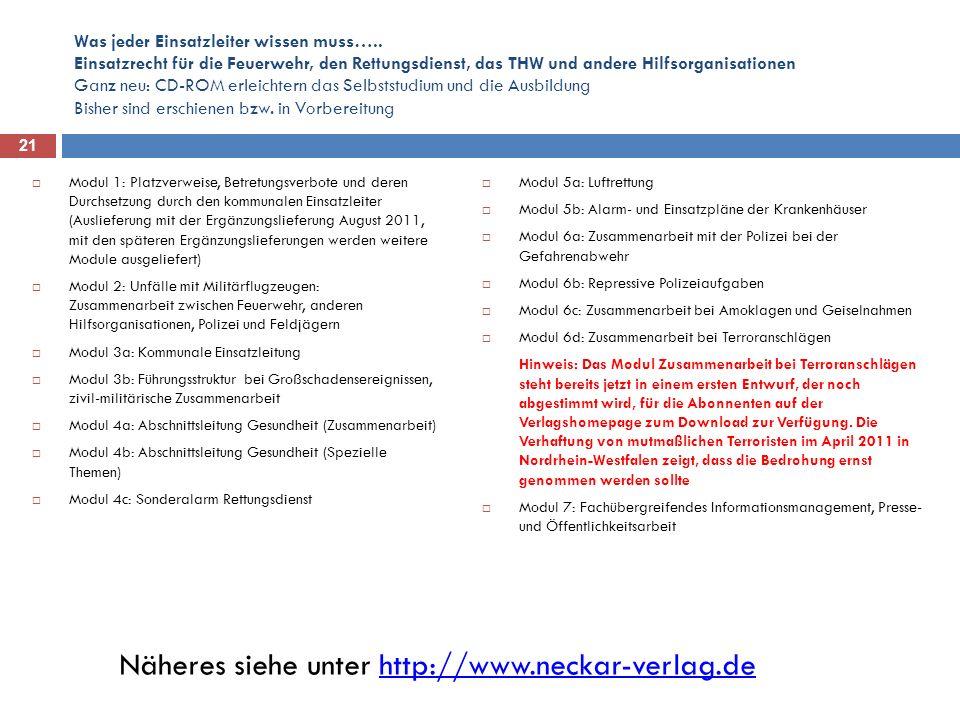 Näheres siehe unter http://www.neckar-verlag.de