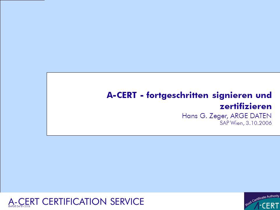 A-CERT CERTIFICATION SERVICE