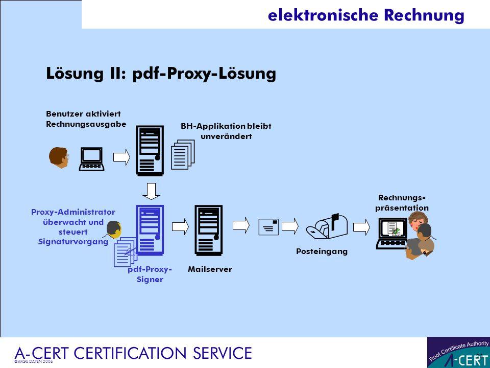          elektronische Rechnung Lösung II: pdf-Proxy-Lösung 