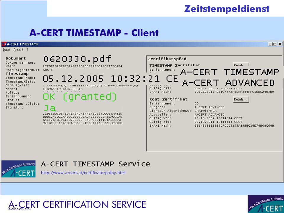 A-CERT TIMESTAMP - Client