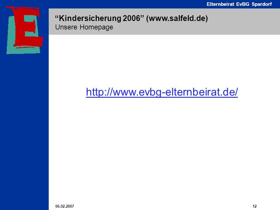 Unsere Homepage http://www.evbg-elternbeirat.de/