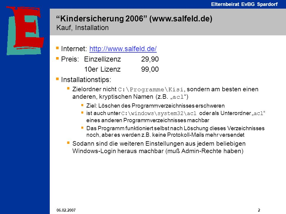 Internet: http://www.salfeld.de/ Preis: Einzellizenz 29,90