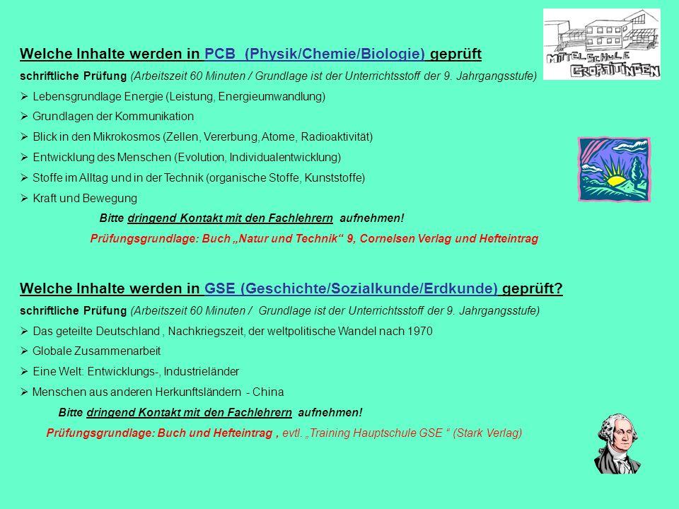 Welche Inhalte werden in PCB (Physik/Chemie/Biologie) geprüft