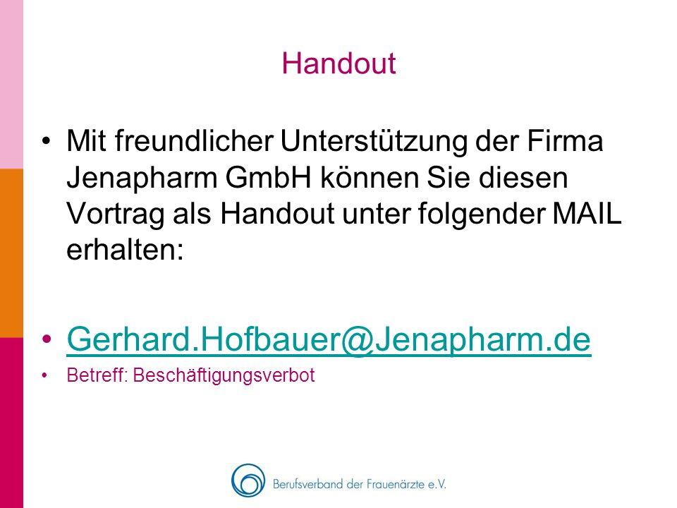 Gerhard.Hofbauer@Jenapharm.de Handout