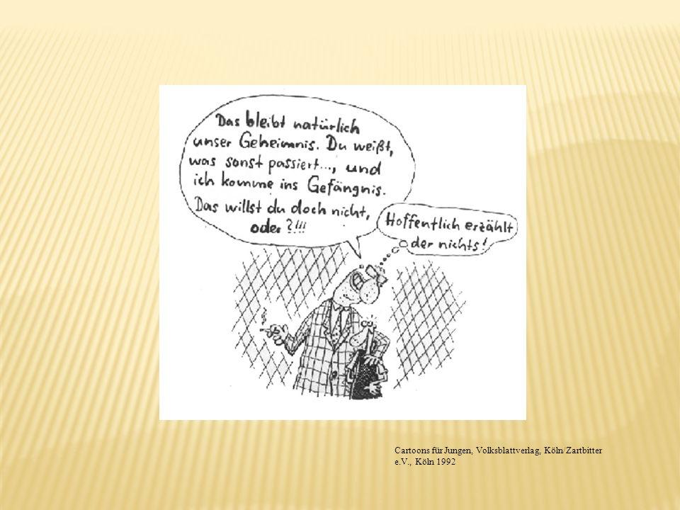 Cartoons für Jungen, Volksblattverlag, Köln/Zartbitter e.V., Köln 1992