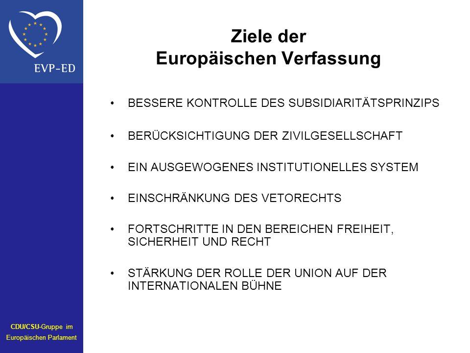 Ziele der Europäischen Verfassung