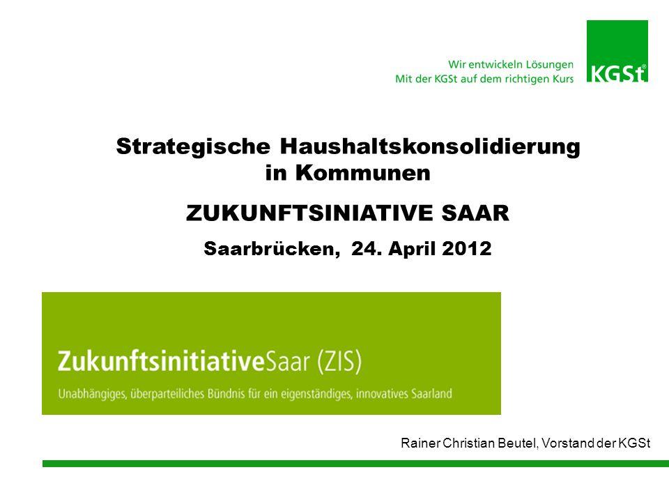 Strategische Haushaltskonsolidierung in Kommunen ZUKUNFTSINIATIVE SAAR