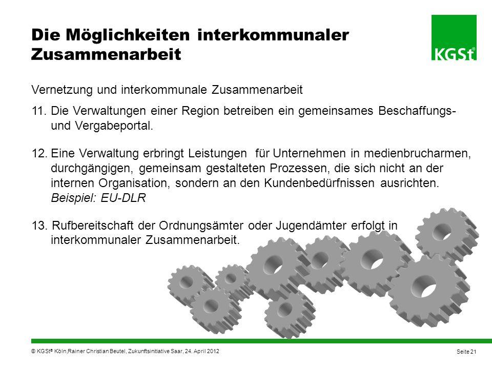 Vernetzung und interkommunale Zusammenarbeit