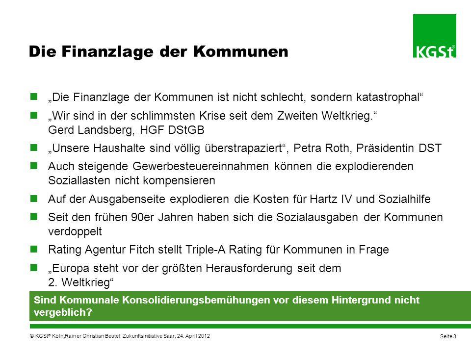 Die Finanzlage der Kommunen