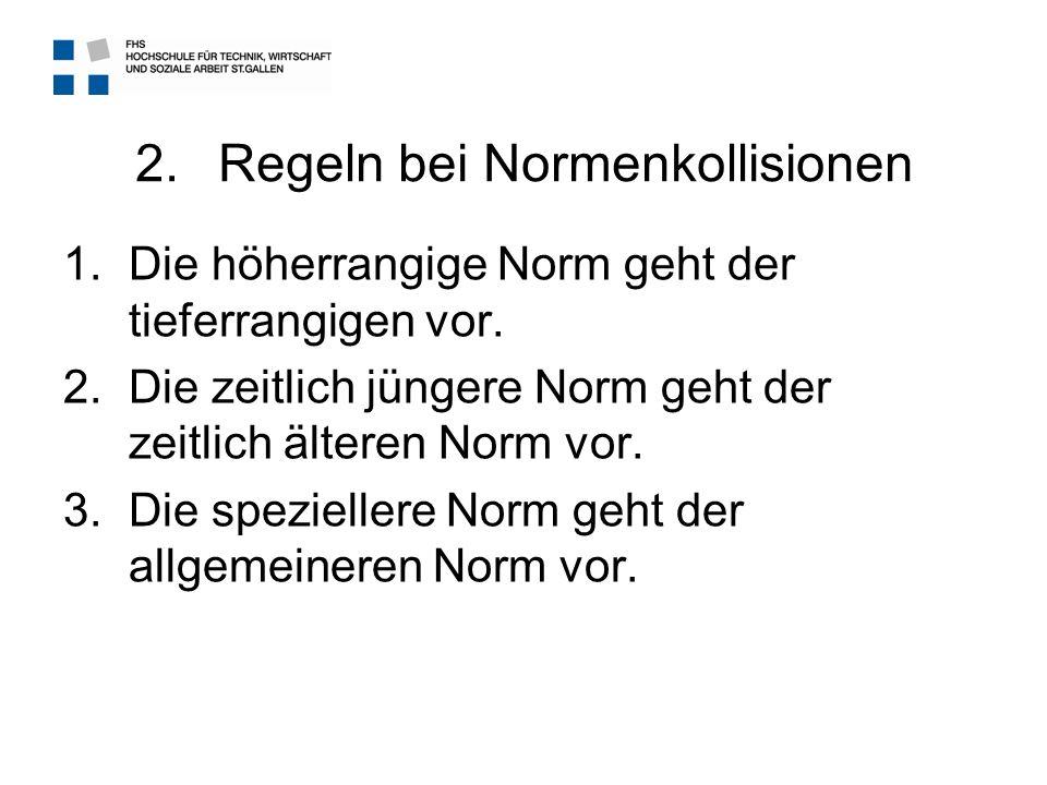 Regeln bei Normenkollisionen