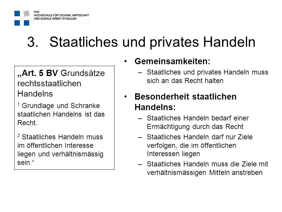 Staatliches und privates Handeln