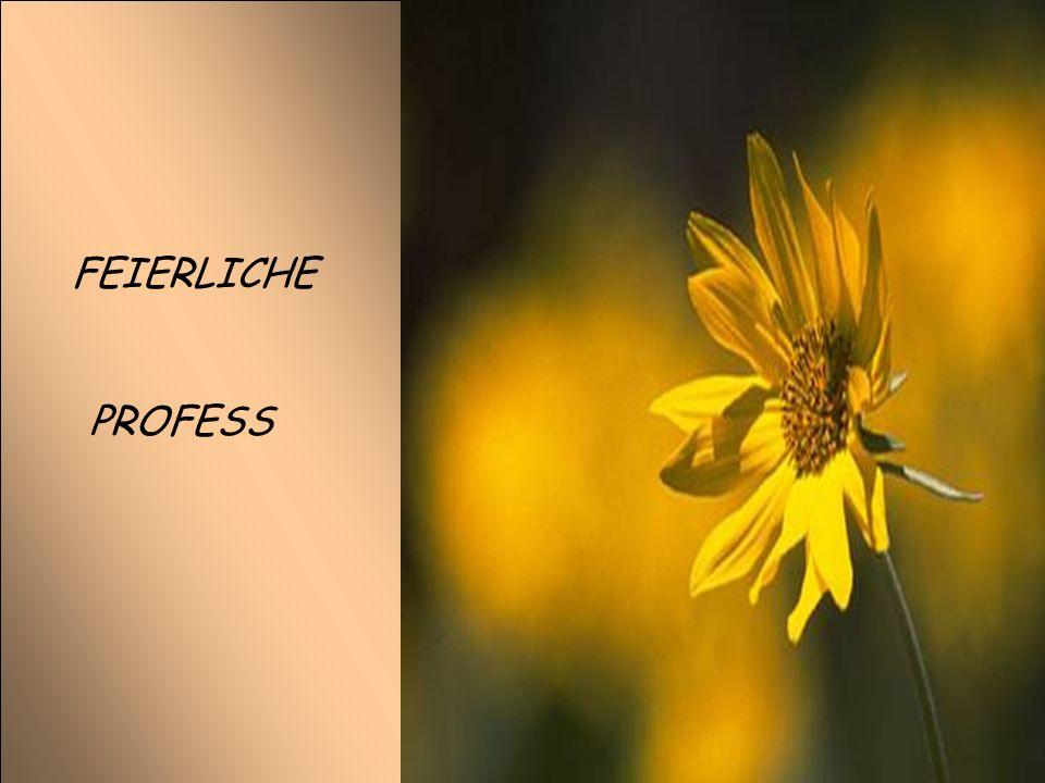FEIERLICHE PROFESS