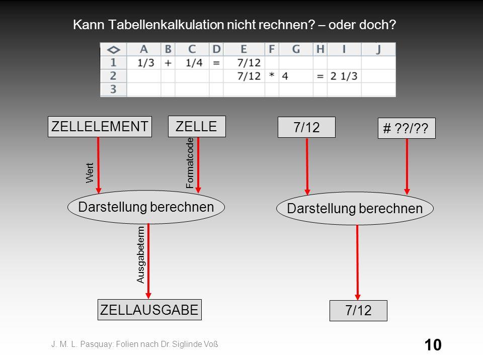Kann Tabellenkalkulation nicht rechnen – oder doch