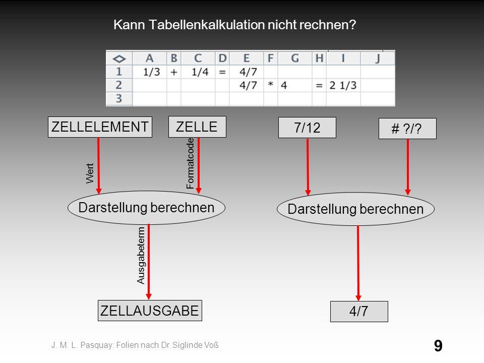 Kann Tabellenkalkulation nicht rechnen