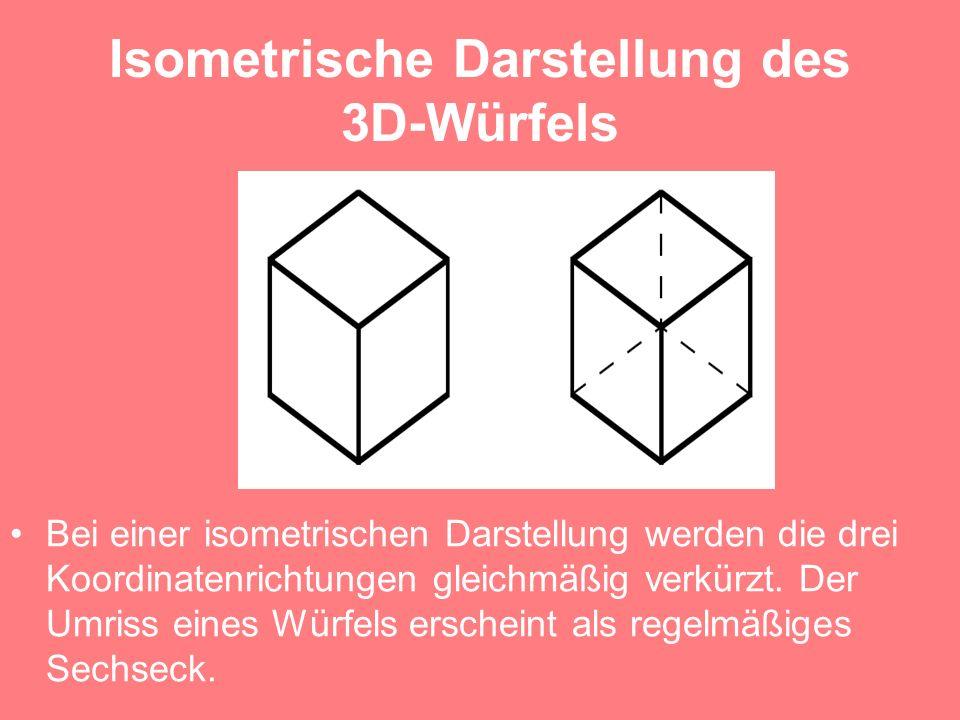 Isometrische Darstellung des 3D-Würfels