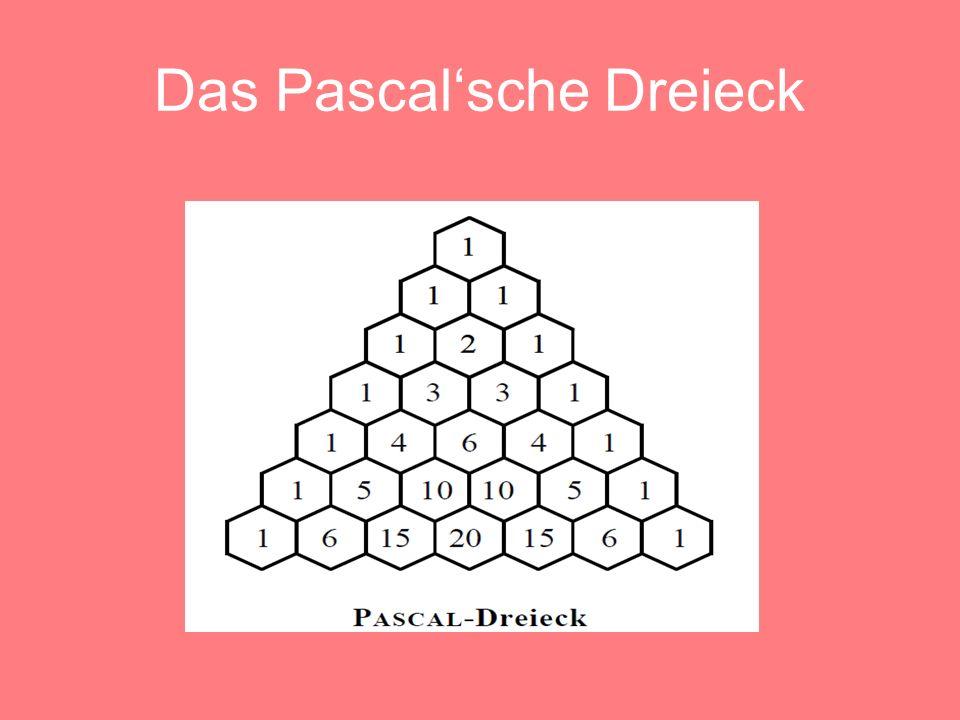 Das Pascal'sche Dreieck