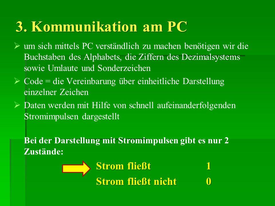 3. Kommunikation am PC Strom fließt nicht 0