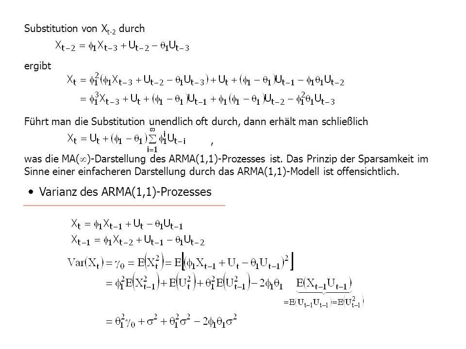 · Varianz des ARMA(1,1)-Prozesses