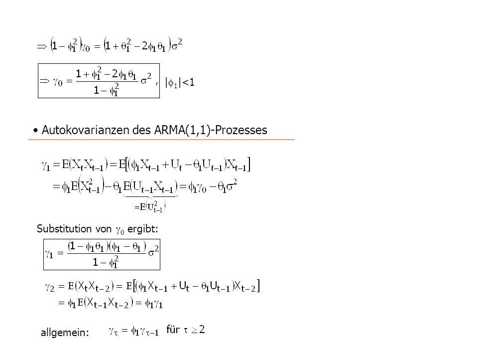 |1|<1 Autokovarianzen des ARMA(1,1)-Prozesses