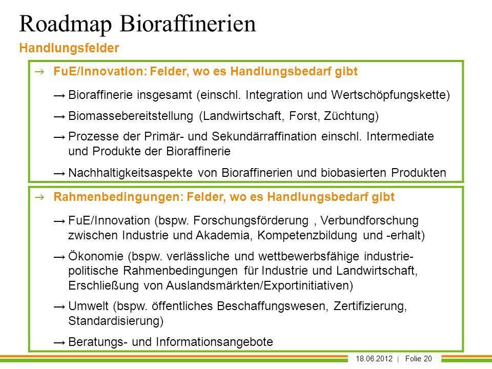 Roadmap Bioraffinerien