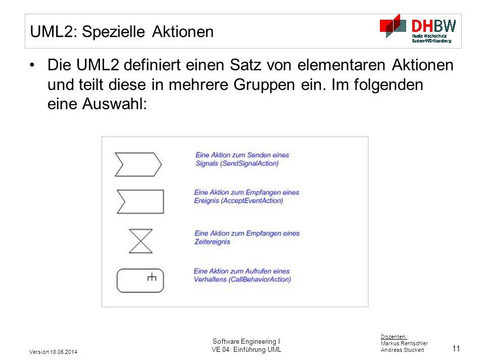 UML2: Spezielle Aktionen