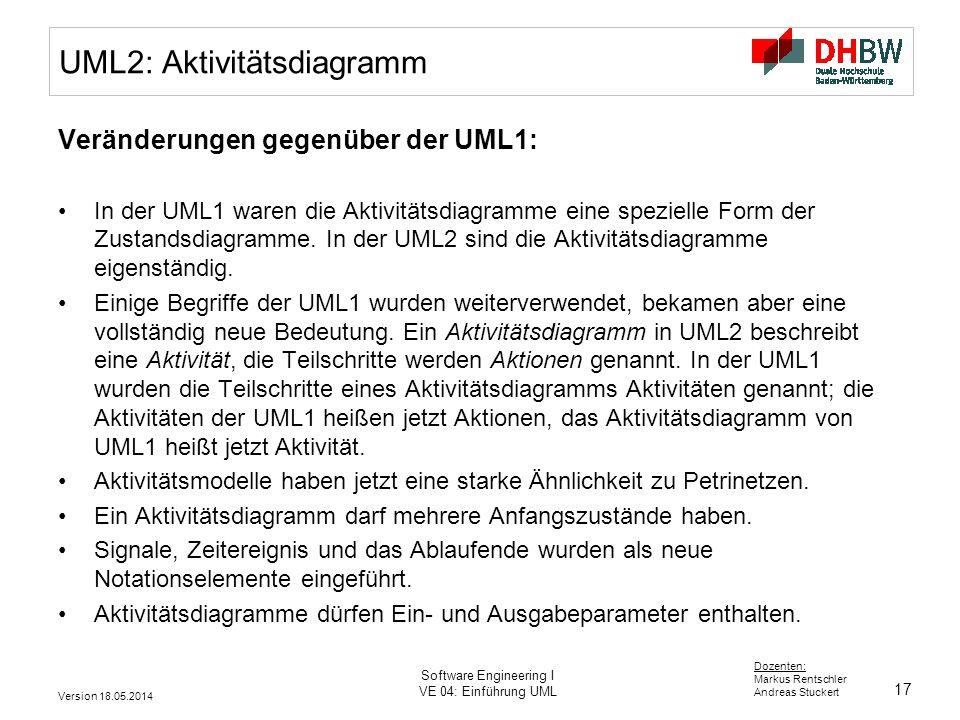 UML2: Aktivitätsdiagramm